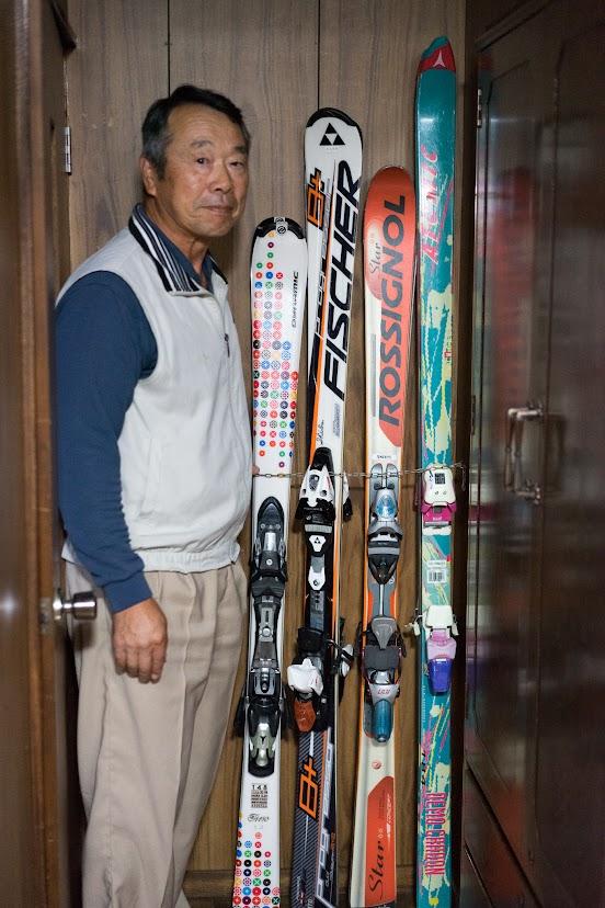 愛用のスキー板
