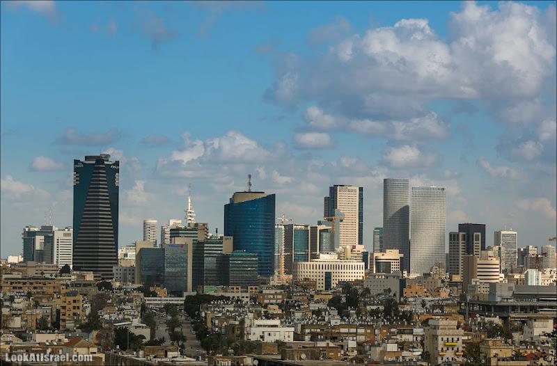 Самый необычный вид на Тель Авив (israel  Я тель авив путешествия небоскреб  20130202 ta skyline 003 5D3 8025)
