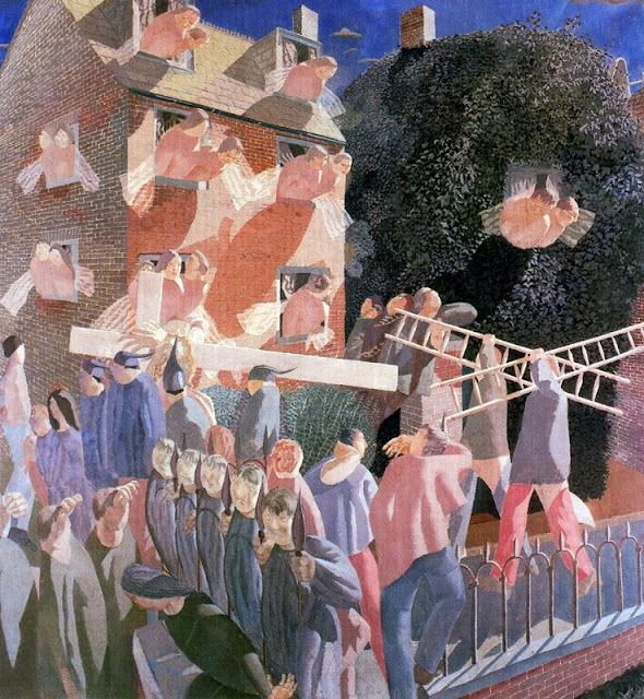 Stanley Spencer - Christ Carrying the Cross, 1920