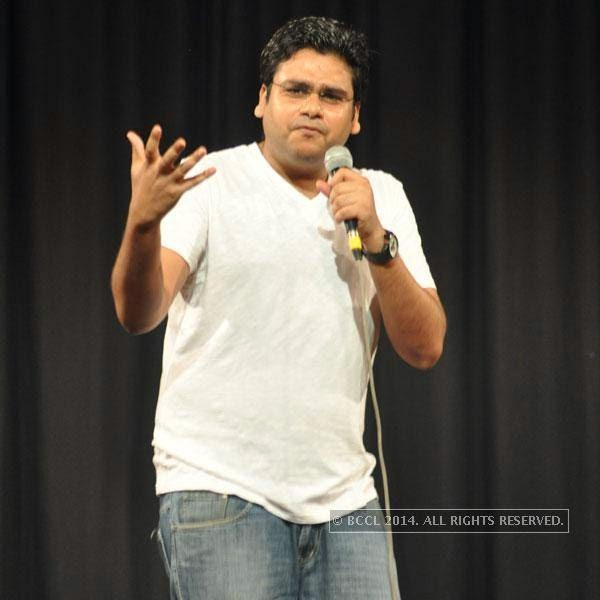 Vaibhav Sethia at Kolkata's Funniest Day, a stand-up comedy event.