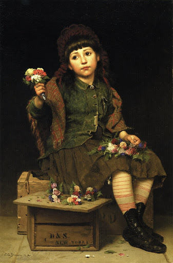 John George Brown - Buy a Posy