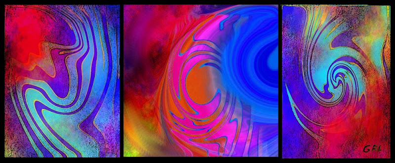 Fine Art Painting Original Digital Abstract Warp 3 - G Linsenmayer
