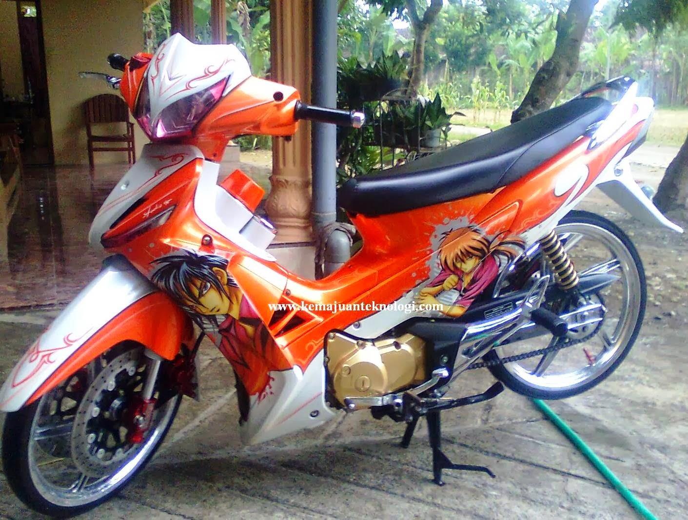 Modifikasi Honda Supra X 125 Drag Race Foto Gambar