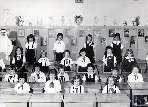 1950's school children