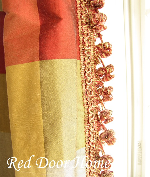 Red Door Home How To Add Decorative Trim To Curtains