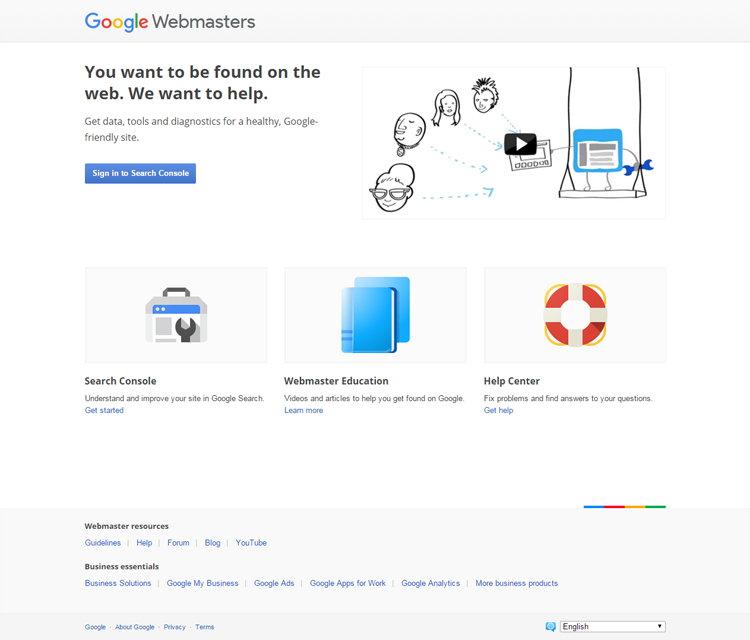 Tampilan Lama Google Webmasters