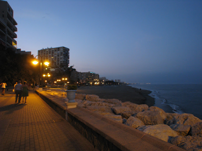 Nightlife at the Boardwalk at Torremolinos, Costa del Sol in Andalucia