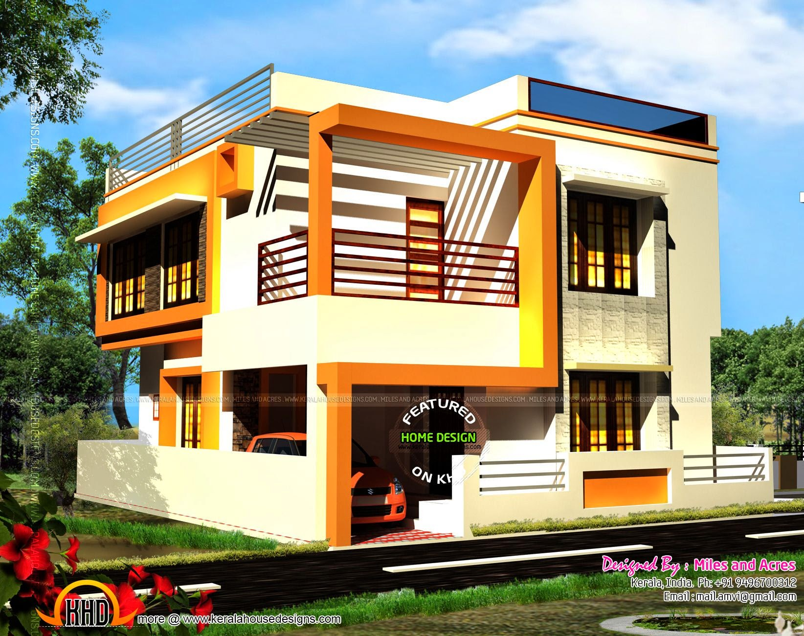 House exterior designs in contemporary style | keralahousedesigns