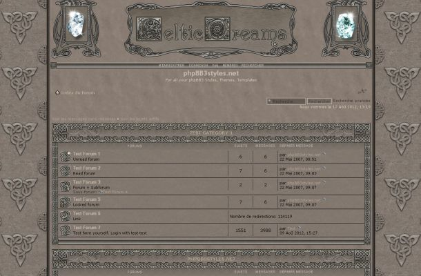 Abstract Vintage Celtic Phpbb Style Theme Template