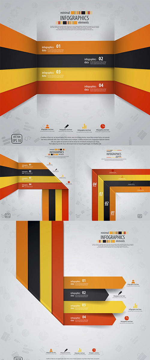Stock: Minimal infographics design. Vector 2