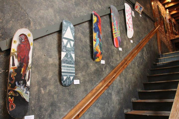 Скейтборд арт