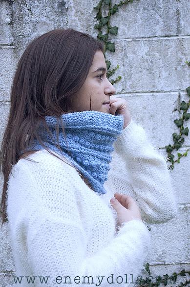 Patrón cuello bufanda ganchillo español