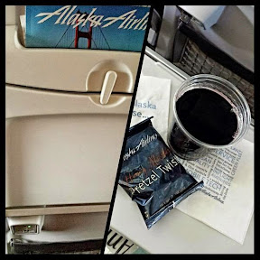 Friendly skies by @AlaskaAir #iFlyAlaska bc they charge ur device at each seat & generously pour Canoe Ridge WA wine