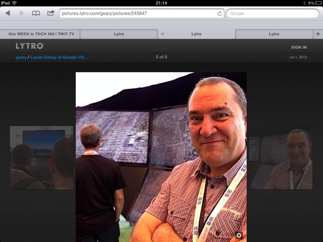 Fotografiado con la cámara Lytro en el Google I/O