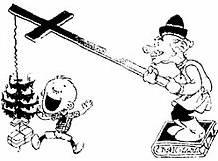 Карикатура - Поп и ребенок