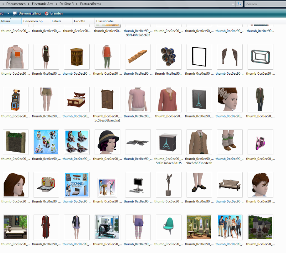 De Sims 3 Featured Items