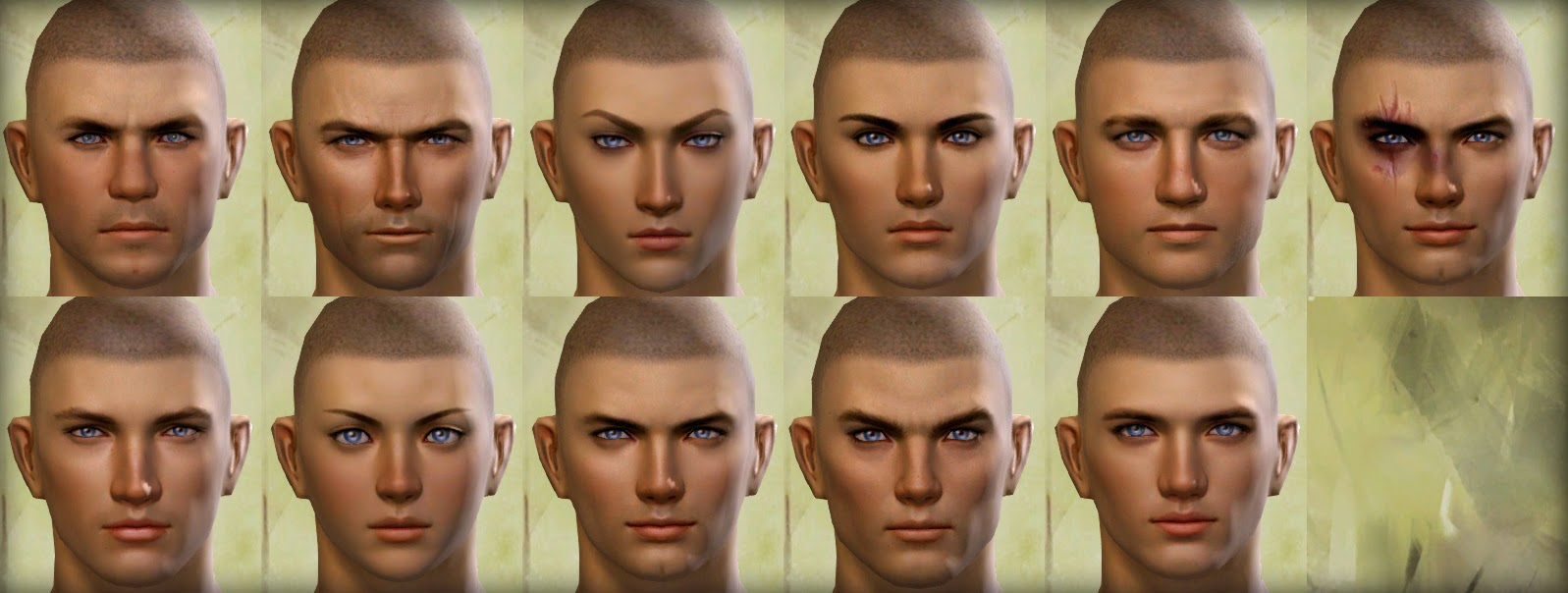 Guild Wars 2 Human Male Faces