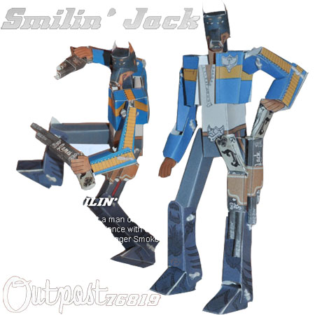 Outpost 76819 Smilin Jack Papercraft
