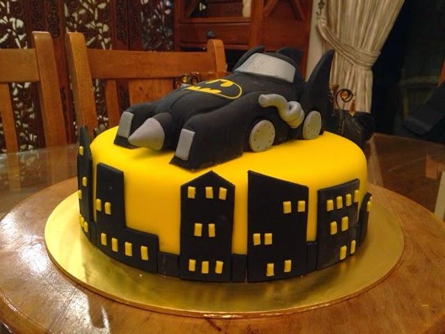 CAKE CUPBOARD Batmans car the Batmobile