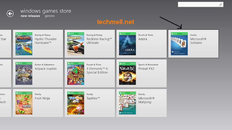Games in Xbox in Windows 8.1