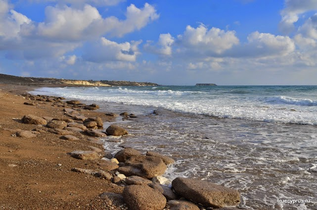 Кипр, пляж лара,