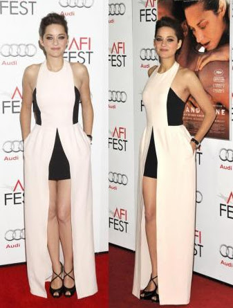 Marion Cotillard on the red carpet at the AFI Fest 2012 in Hollywood California