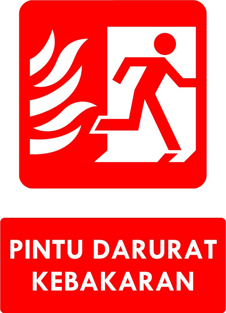 Rambu Pintu Keluar Darurat Kebakaran