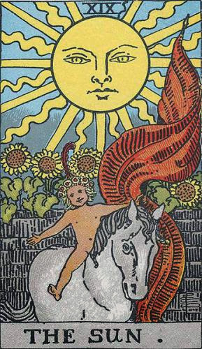 Tarot Card Meaning For The Sun Rws And Thoth