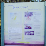 Information sign for Joes Cove Camping Area