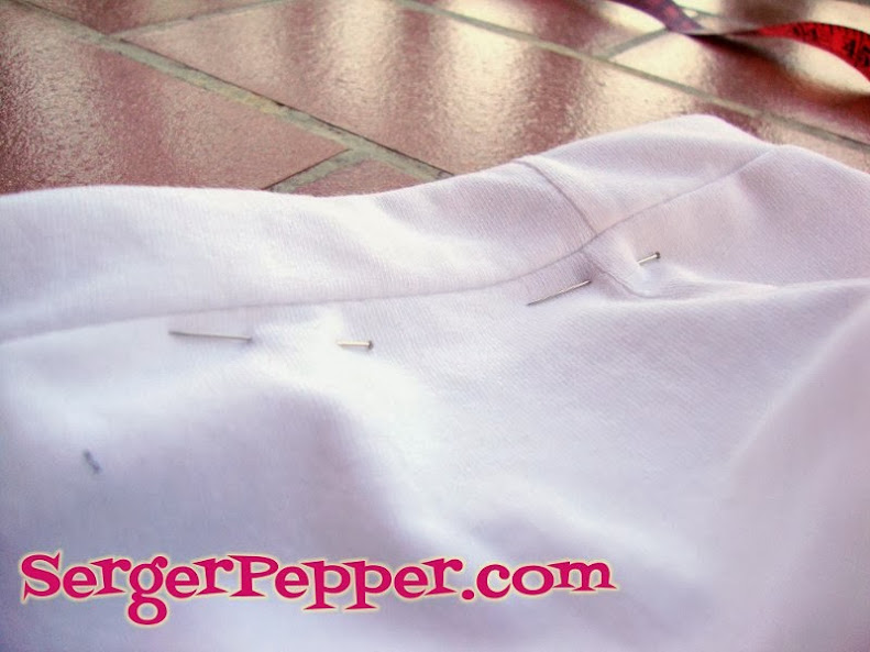 Serger Pepper - Ruffled Leggings - close the casing