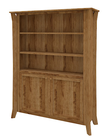 Kyoto Wooden Door Bookshelf in Lamar Maple