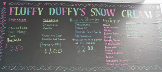 Fluffy Duffy's Snow Cream