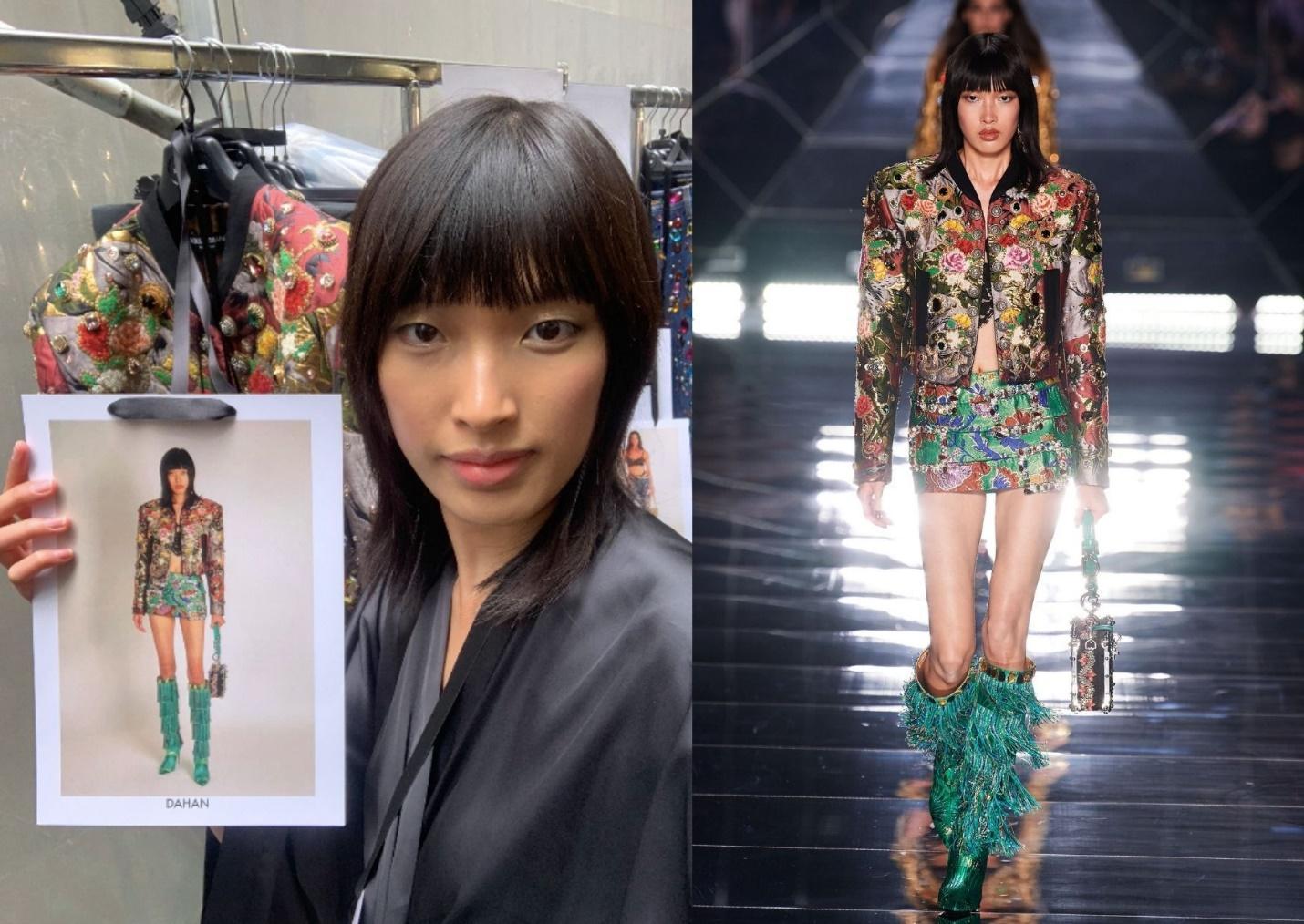 Người mẫu Phương Oanh trúng sô của nhà mốt Dolce & Gabbana tại Ý /// NVCC