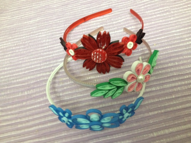 Quilled Hair Bands