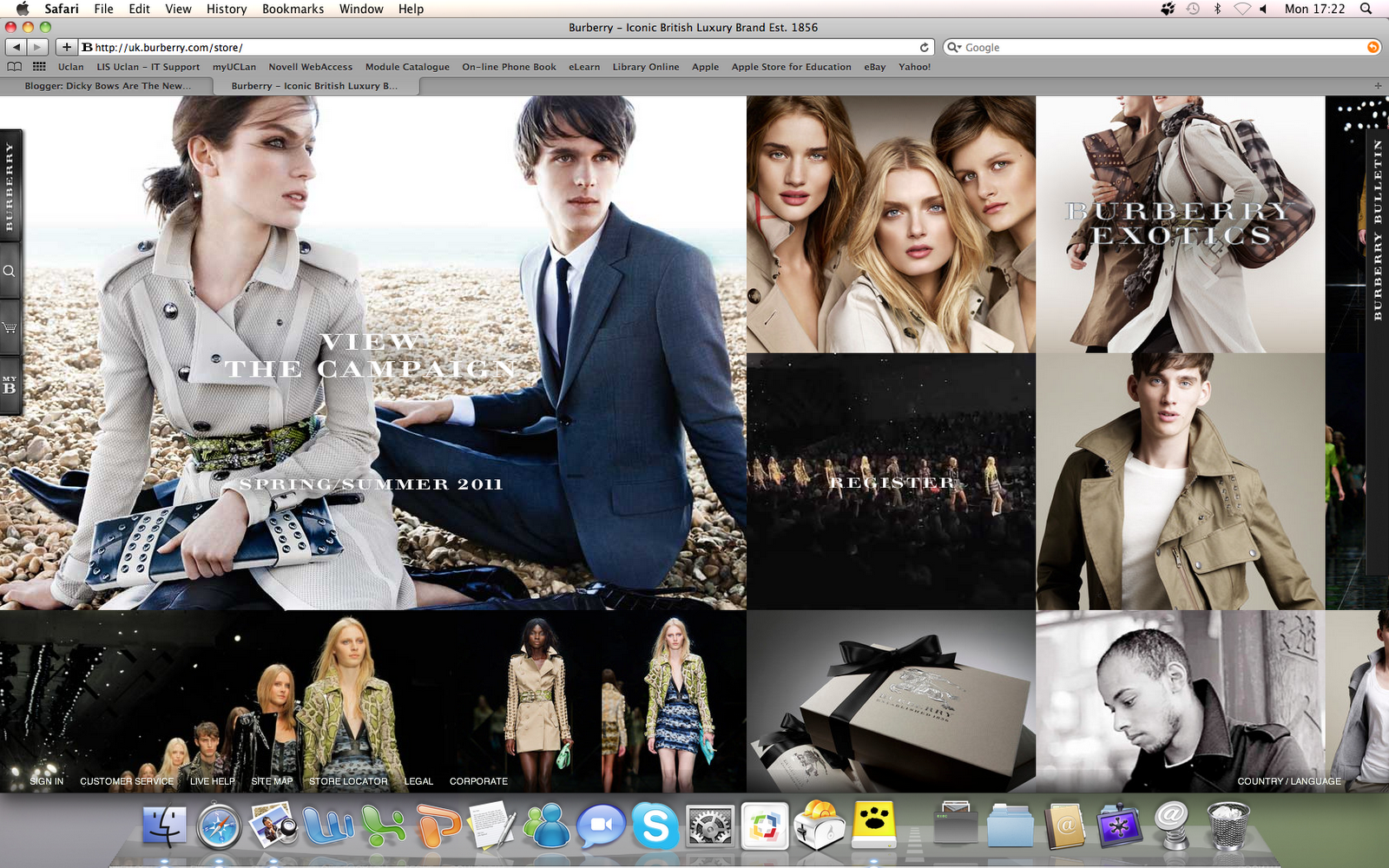 600174da400 The Burberry website is very modern and gives an overall insight to the  brand- The website is highly advanced and takes you back to the beginning  of the ...