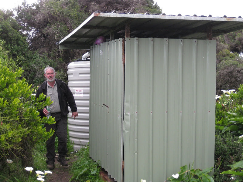 Ralph, toilet block and water tank, Moses Campsite, Cape to Cape Track