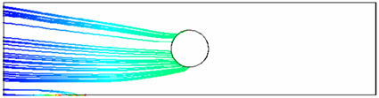 Расчет взаимодействия жидкости с заряженными частицами с внешним электростатическим полем. electromagnetics@cfx. Частицы заряжены положительно