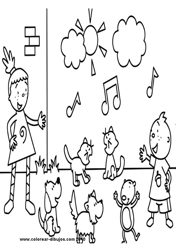 pinky dinky doo coloring pages - photo#25