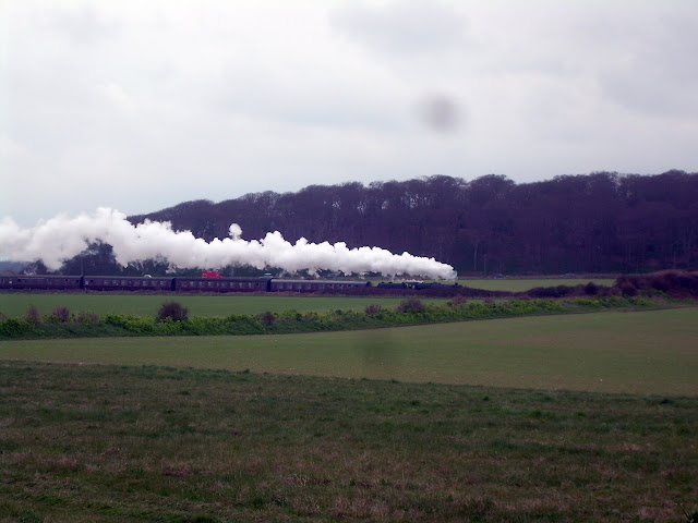Steam train leaving Sheringham