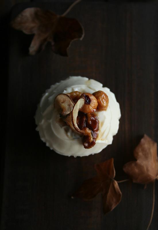 Cupcakes de calabaza otoñales