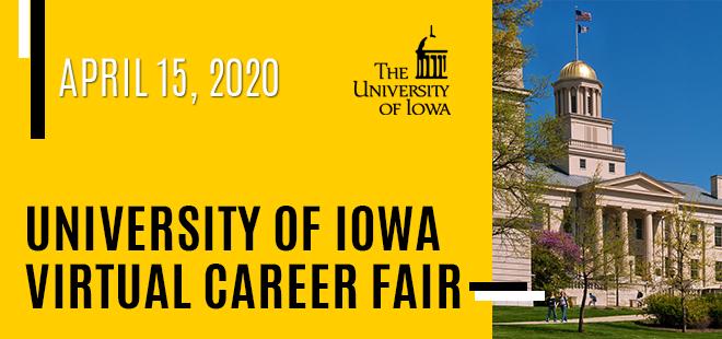 The University of Iowa Virtual Career Fair Banner