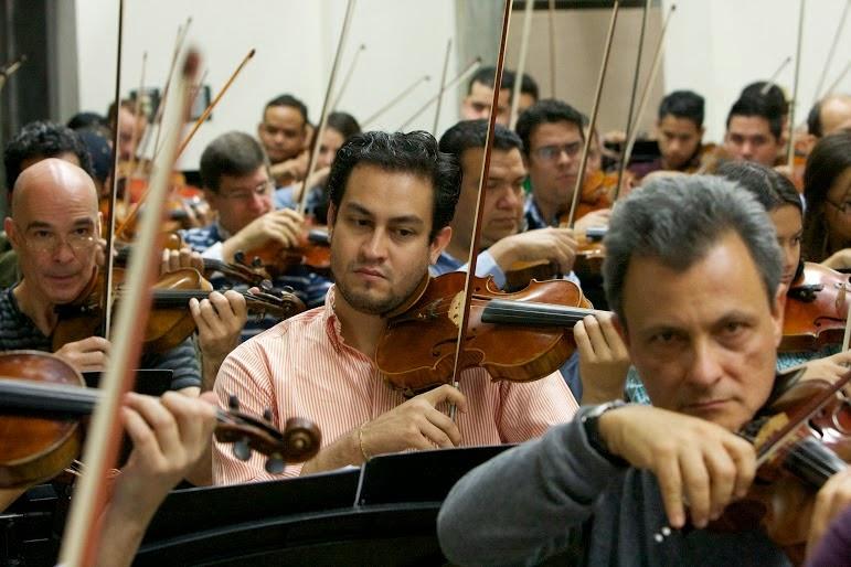 Dos miembros fundadores del Sistema y un destacado director: Ulyses Ascanio, Sergio Celis y Diego Matheuz