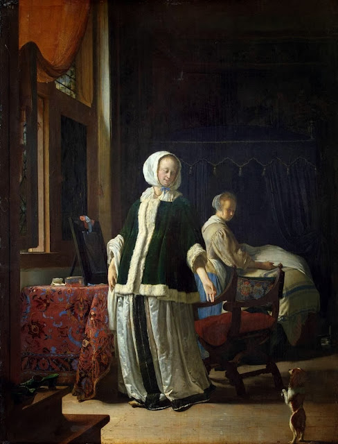 Frans van Mieris the Elder - Young Woman in the Morning