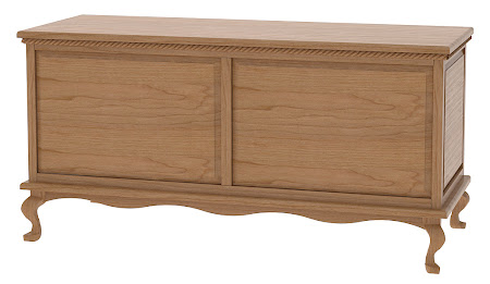 Matching Furniture Piece: Queen Anne Cedar Chest in Natural Cherry