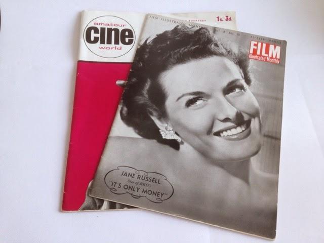 Vintage film magazines
