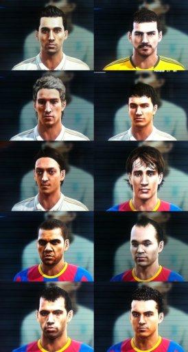 Faces%252520Real%252520x%252520Bar%2525C3%2525A7a Prévia PES 2012: Faces do Real Madrid e Barcelona