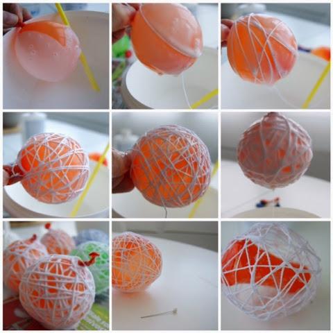 The little greta diy bolas de navidad - Bolas de hilo ...