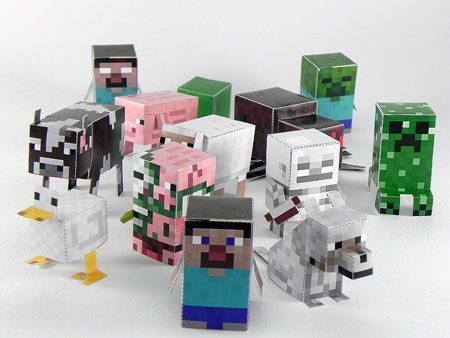 Minecraft Minis Paper Toys Batch 1