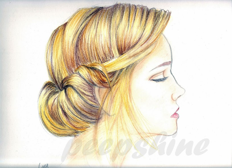 coiffure chignon dessin. Black Bedroom Furniture Sets. Home Design Ideas
