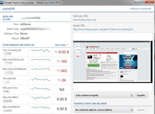 Google Chrome Adsense uzantısı indir
